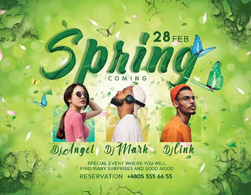 Spring is Coming Free Party Flyer Template