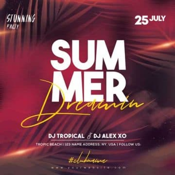 Summer Dreaming Free Flyer Template