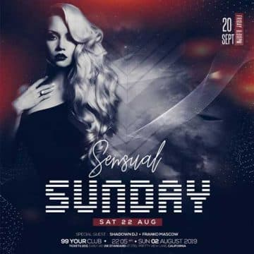 Sunday Party Free PSD Flyer Template