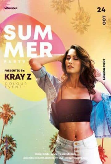 Tropical Summer Party Free Flyer Template