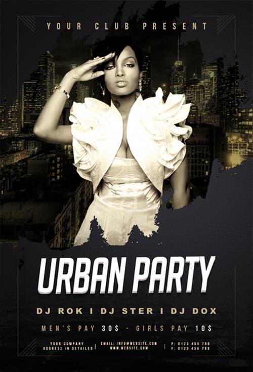 Urban Night Club Free Flyer Template