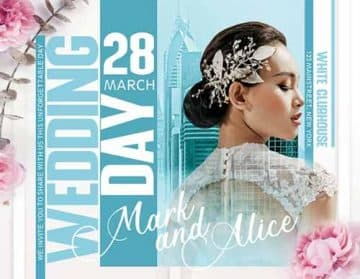Wedding Day Free PSD Flyer Template