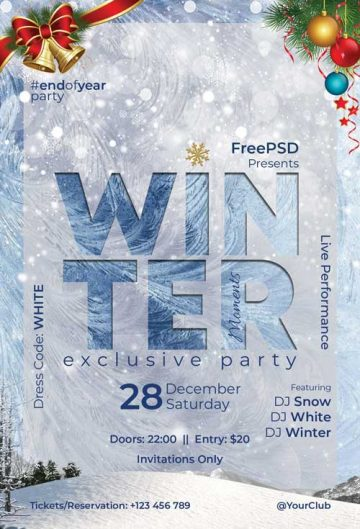 Winter Moments Free Flyer Template