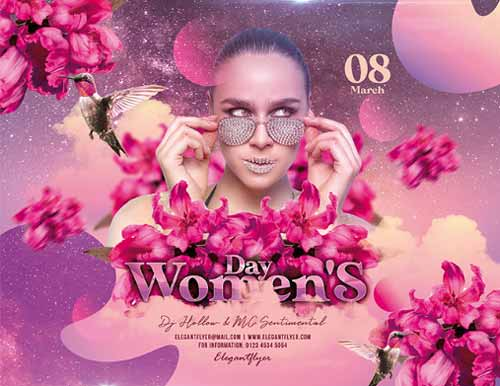 Woman's Day Free PSD Flyer Template