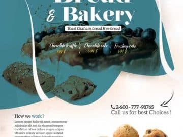 Free Bakery & Cupcake Flyer Template