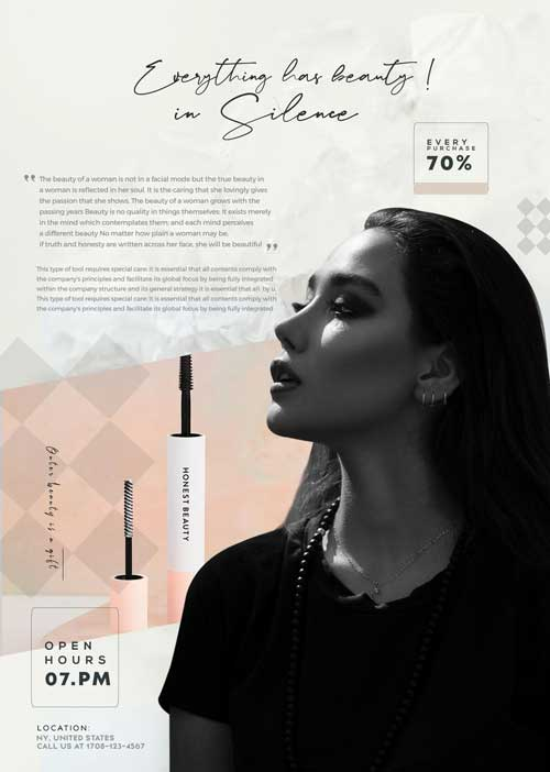 Free Beauty Makeup Sale Flyer Template