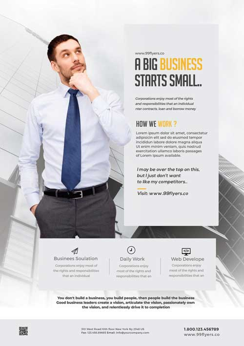 Free Clean Business Advertisement Flyer Template