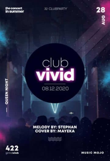 Free EDM Club Party Flyer Template