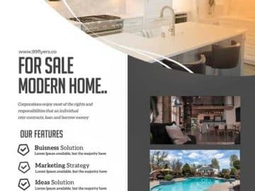 Free Modern Real Estate Flyer Template