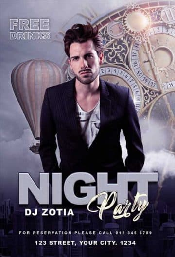 Free Night Club DJ Flyer Template