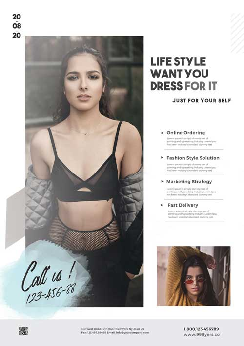Free Online Fashion Sale Flyer Template