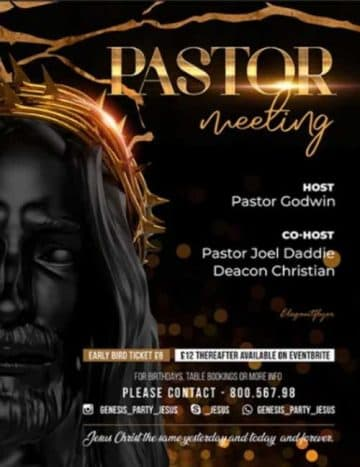 Free Pastor Meeting Church Flyer Template
