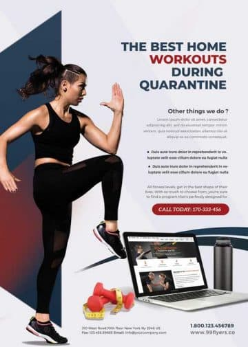 Free Personal Workouts Training Flyer Template