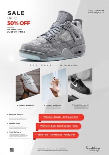 Free Shop Sale Advertisement Flyer Template