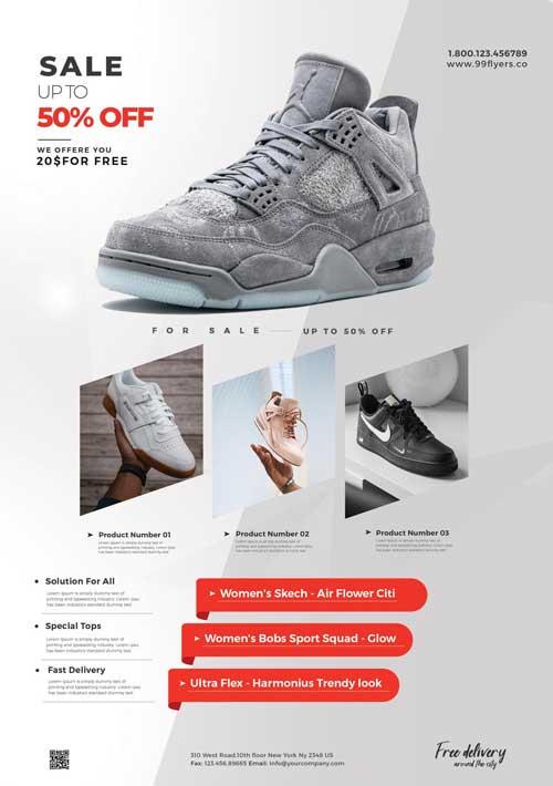 Free Shop Sale Advertisement Flyer Template