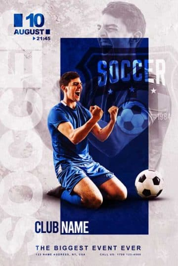 Free Soccer Club Flyer Template