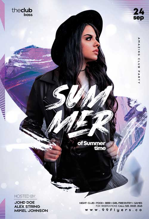 Free Summer Club Night Flyer Template
