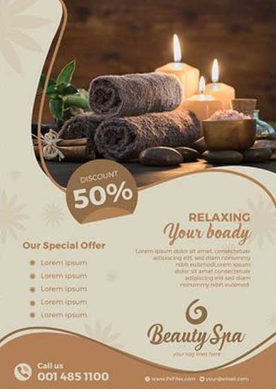 Luxury Beauty Spa Free Flyer Template