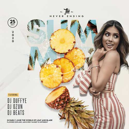 Summer Fiesta Party Free PSD Flyer Template