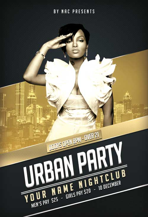 Urban Club Music Free Flyer Template