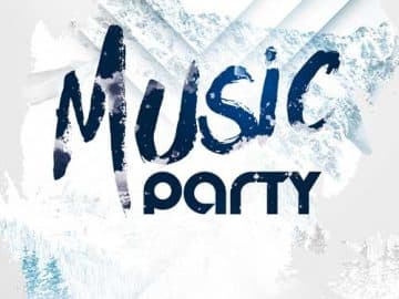 Winter Music Party Free Flyer Template