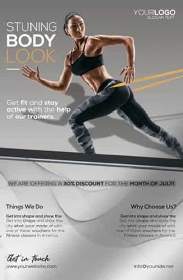 Free Fitness Flyer PSD Template