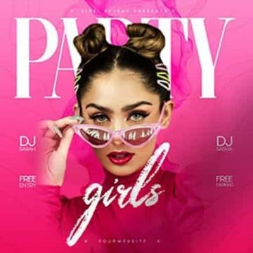 Party Girls Free PSD Insta Template