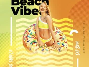 Free Beach Vibes Party Flyer Template