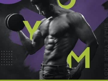 Free Gym Flyer PSD Template