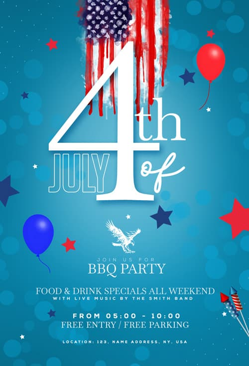 Free Independence Day Celebration Flyer Template