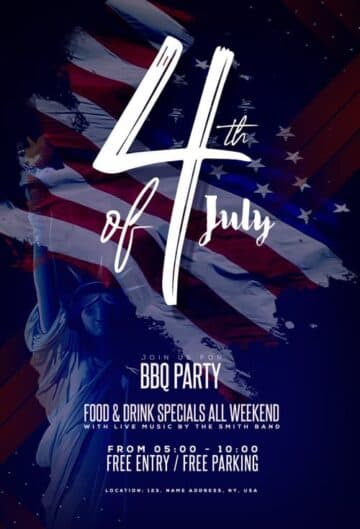 Free Independence Day Event Flyer Template