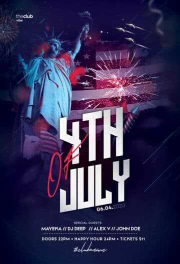 Free Independence Day Flyer Template