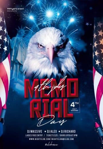 Free Memorial Day Weekend Flyer Template