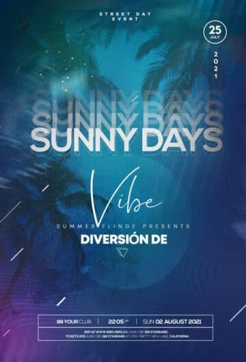 Free Summer Days Event Flyer Template