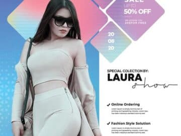 Free Summer Fashion Collection Flyer Template