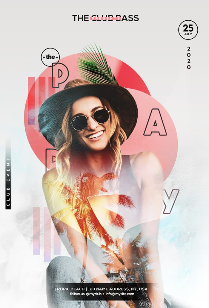 Free Summer Party Event Flyer Template
