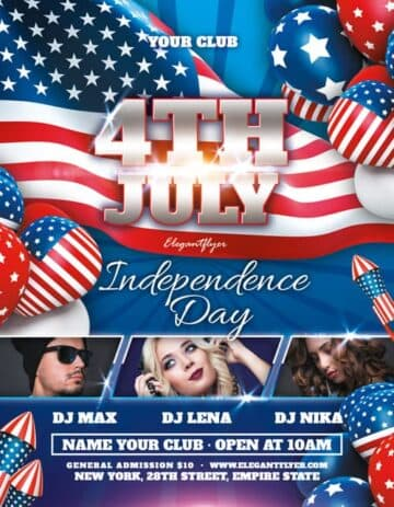 Independence Day Party Event Free Flyer Template