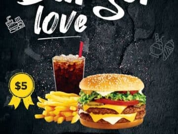 Burger Love Free Flyer Template