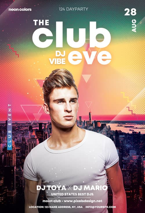 Free Club Eve Party Flyer Template