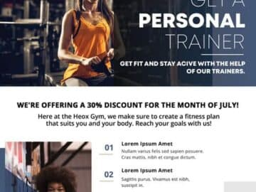 Free Personal Trainer Fitness PSD Flyer Template