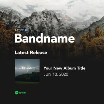 Free Spotify Album Release Instagram PSD Template