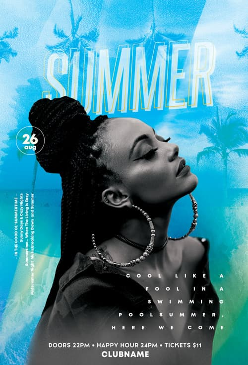 Free Summer Fun Event Flyer Template
