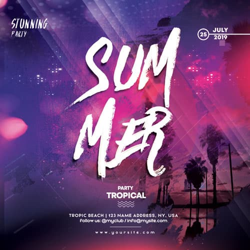Free Summer Instagram and Flyer Template