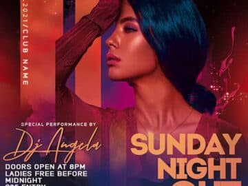 Free Sunday Night Out Party Flyer Template