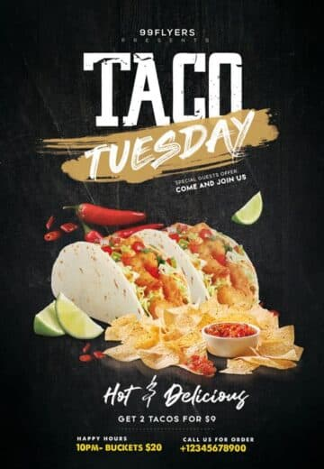 Free Taco Tuesday Flyer PSD Template