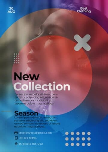 New Fashion Collection Free Flyer Template