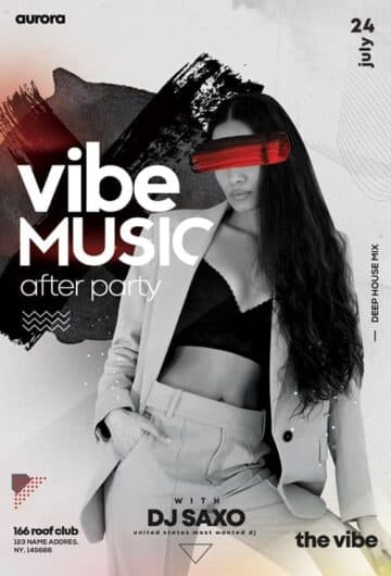 Free After Party PSD Flyer Template