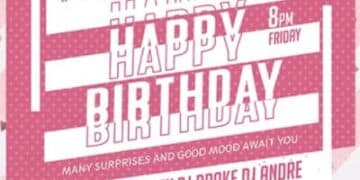 Free Happy Birthday PSD Flyer Template