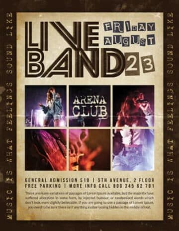Free Live Band Event Flyer Template