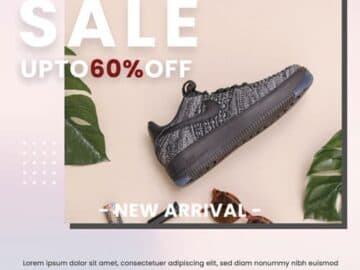 Free Sale Shoes Flyer PSD Template